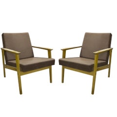 Occasional Danish Style Armchairs, Produced by TON, 1960s