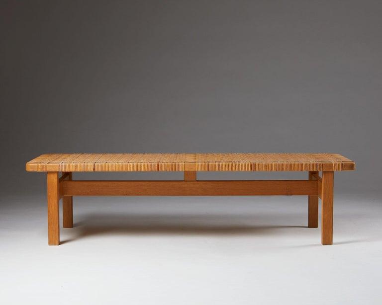 Scandinavian Modern Occasional Table/Bench Model 5272 Designed by Börge Mogensen, Denmark, 1950s For Sale