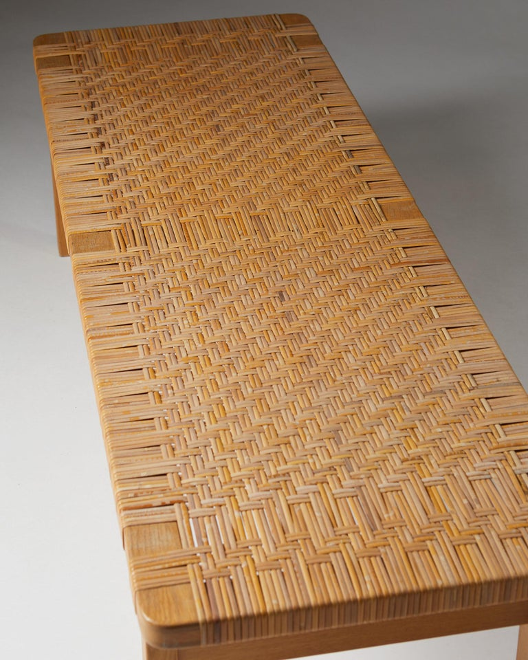 Occasional Table/Bench Model 5272 Designed by Börge Mogensen, Denmark, 1950s In Good Condition For Sale In Stockholm, SE