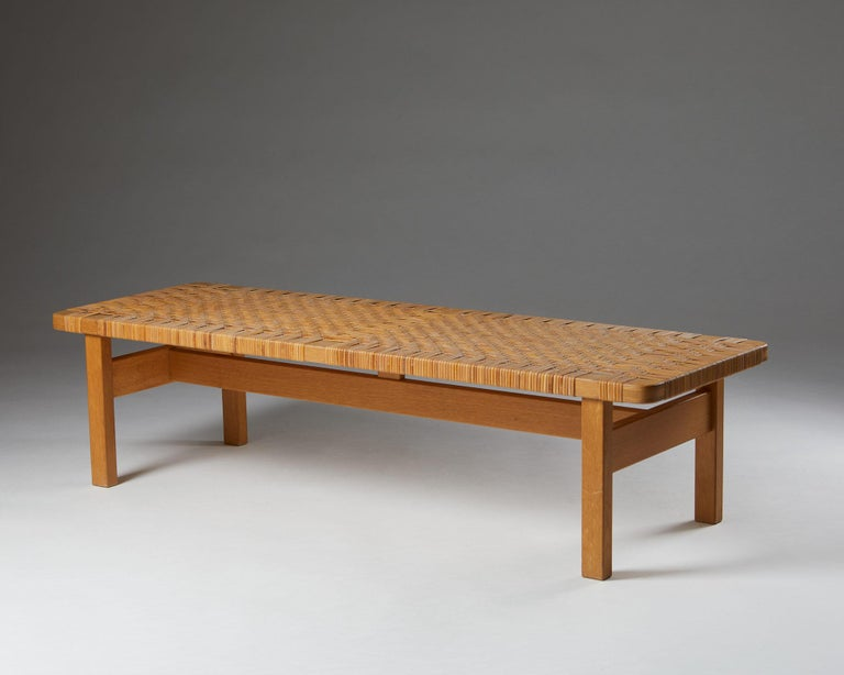Mid-20th Century Occasional Table/Bench Model 5272 Designed by Börge Mogensen, Denmark, 1950s For Sale