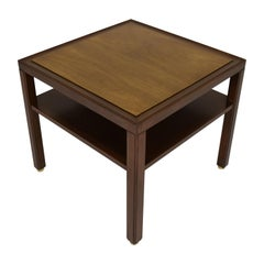 Occasional Table by Dunbar in Walnut with Brass Feet