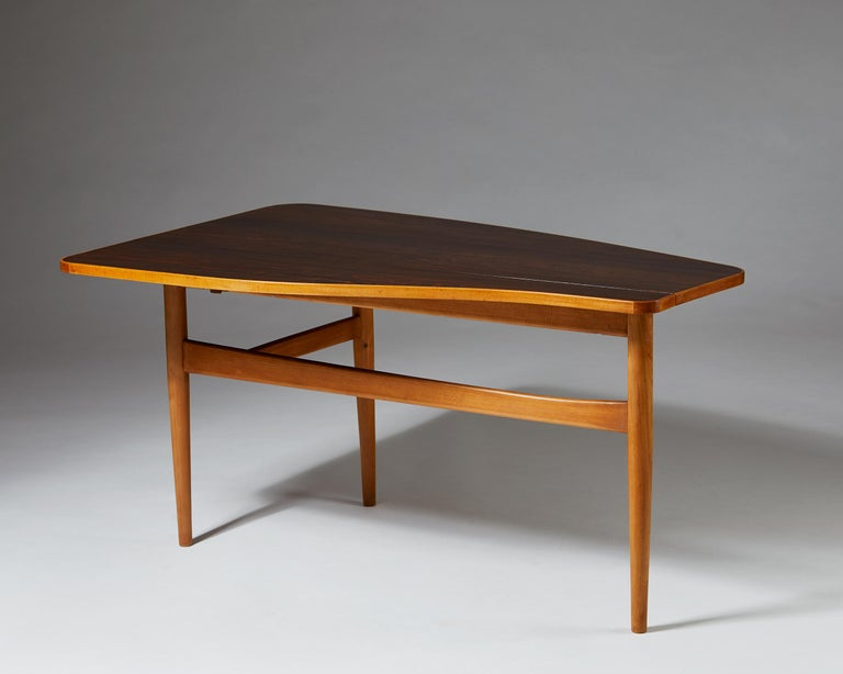 Scandinavian Modern Occasional Table Designed by Finn Juhl for Bovirke, Denmark, 1940s For Sale