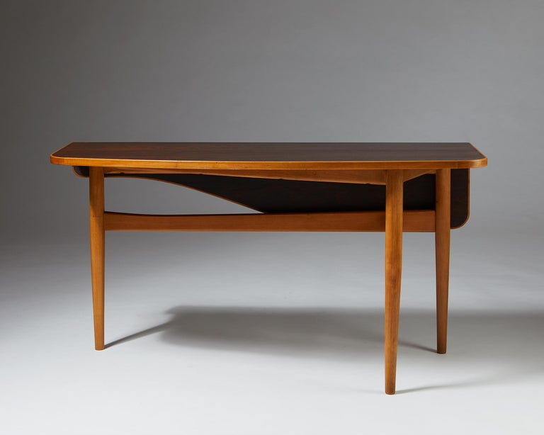 Mid-20th Century Occasional Table Designed by Finn Juhl for Bovirke, Denmark, 1940s For Sale