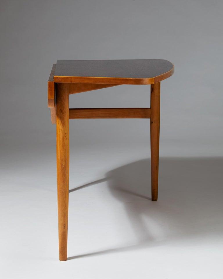 Beech Occasional Table Designed by Finn Juhl for Bovirke, Denmark, 1940s For Sale