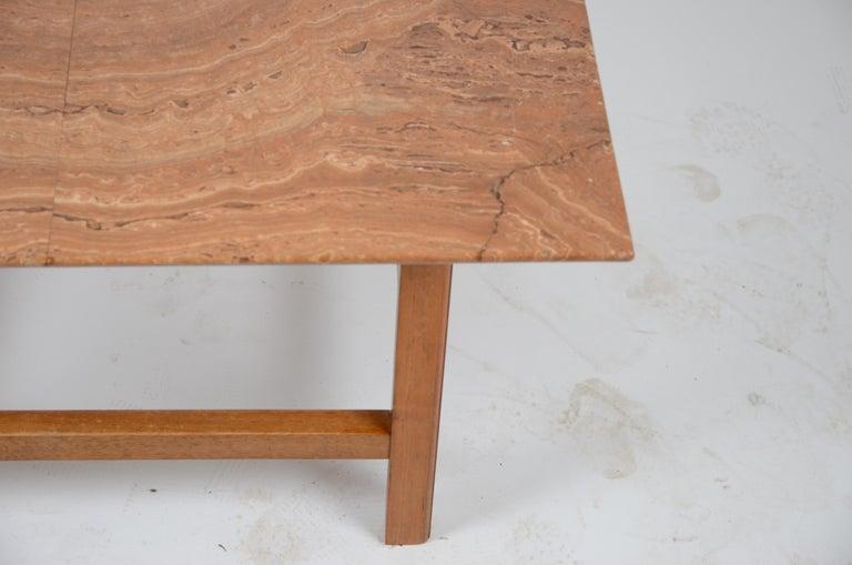 Scandinavian Modern Occasional Table, Marble Top by Josef Frank, Firma Svenskt Tenn, 1940s-1950s For Sale