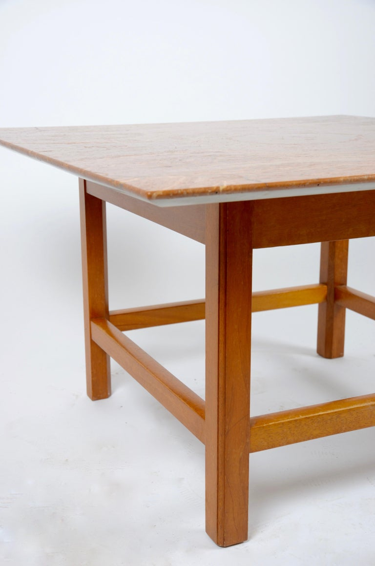 Occasional Table, Marble Top by Josef Frank, Firma Svenskt Tenn, 1940s-1950s In Good Condition For Sale In Stockholm, SE