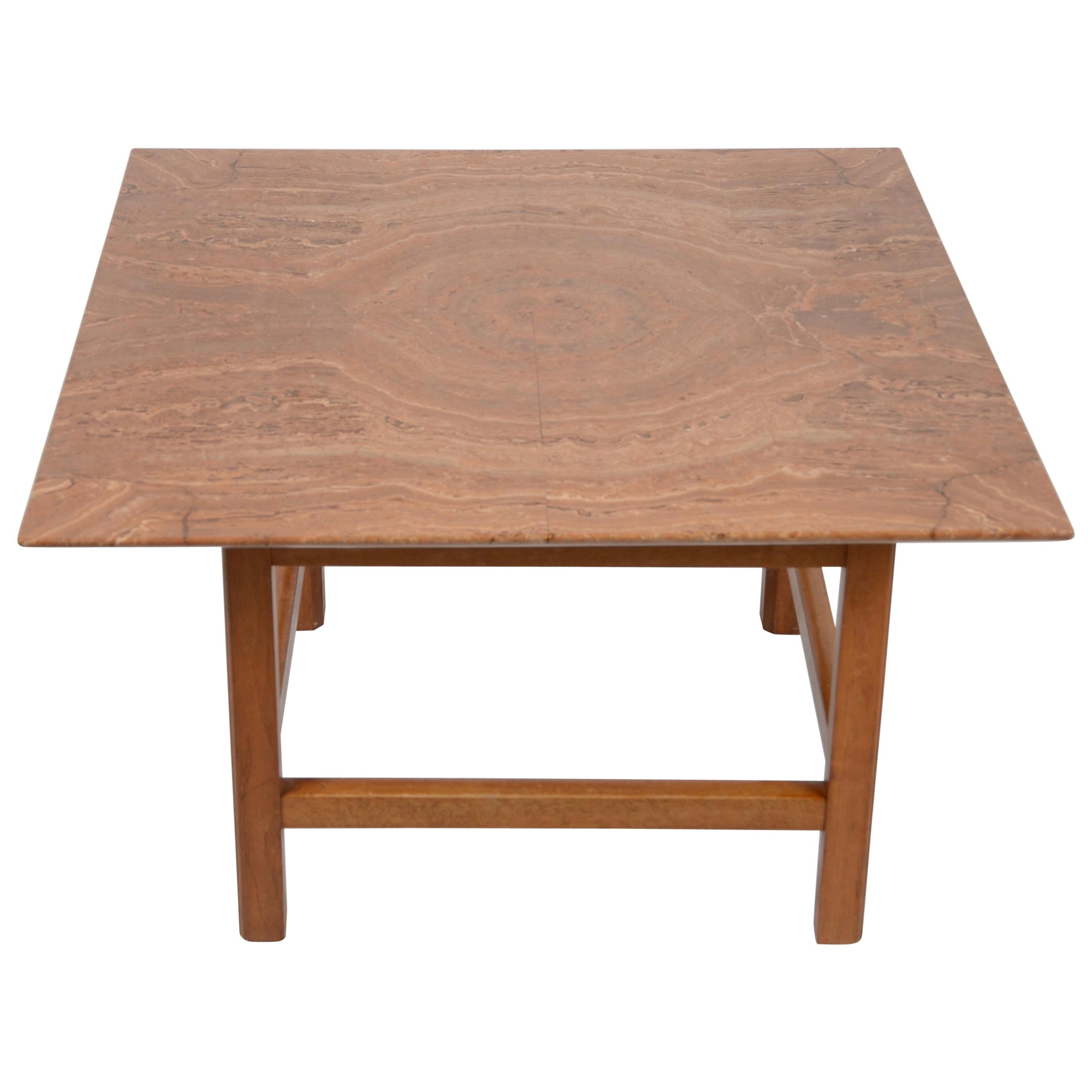 Occasional Table, Marble Top by Josef Frank, Firma Svenskt Tenn, 1940s-1950s