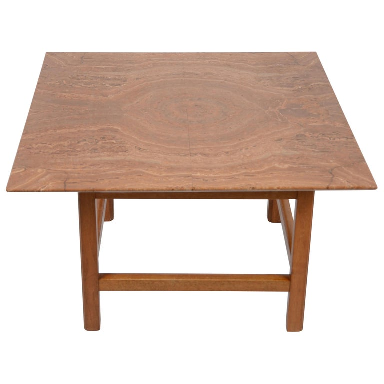 Occasional Table, Marble Top by Josef Frank, Firma Svenskt Tenn, 1940s-1950s For Sale