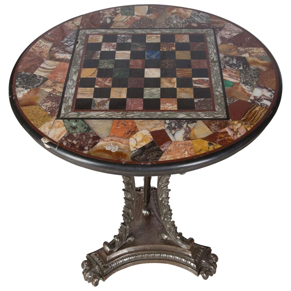 Danish Square Teak Flip Top Card Table with Leaves