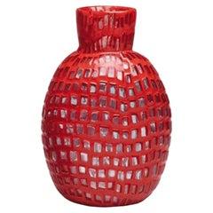 Occhi Vase in Red by Ludovico Diaz de Santillana, Tobia Scarpa
