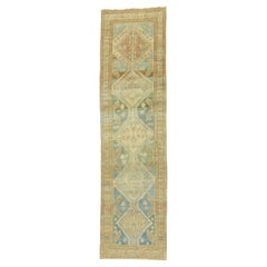 Ocean Blue Sand Color Persian Tribal Runner