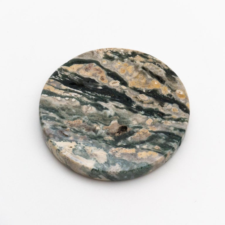 Ocean Jasper Coasters, Set of 4 In Excellent Condition For Sale In New York, NY