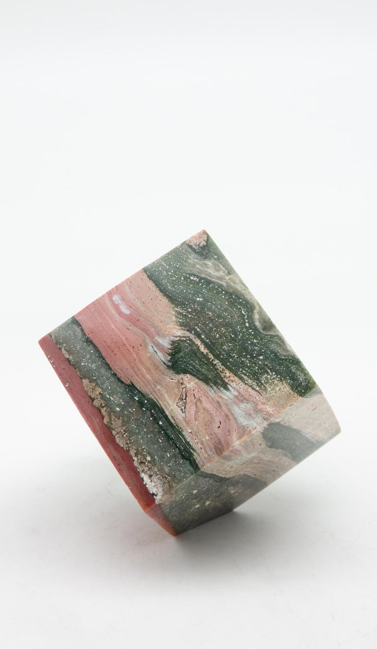 Ocean Jasper Cube In New Condition For Sale In New York, NY