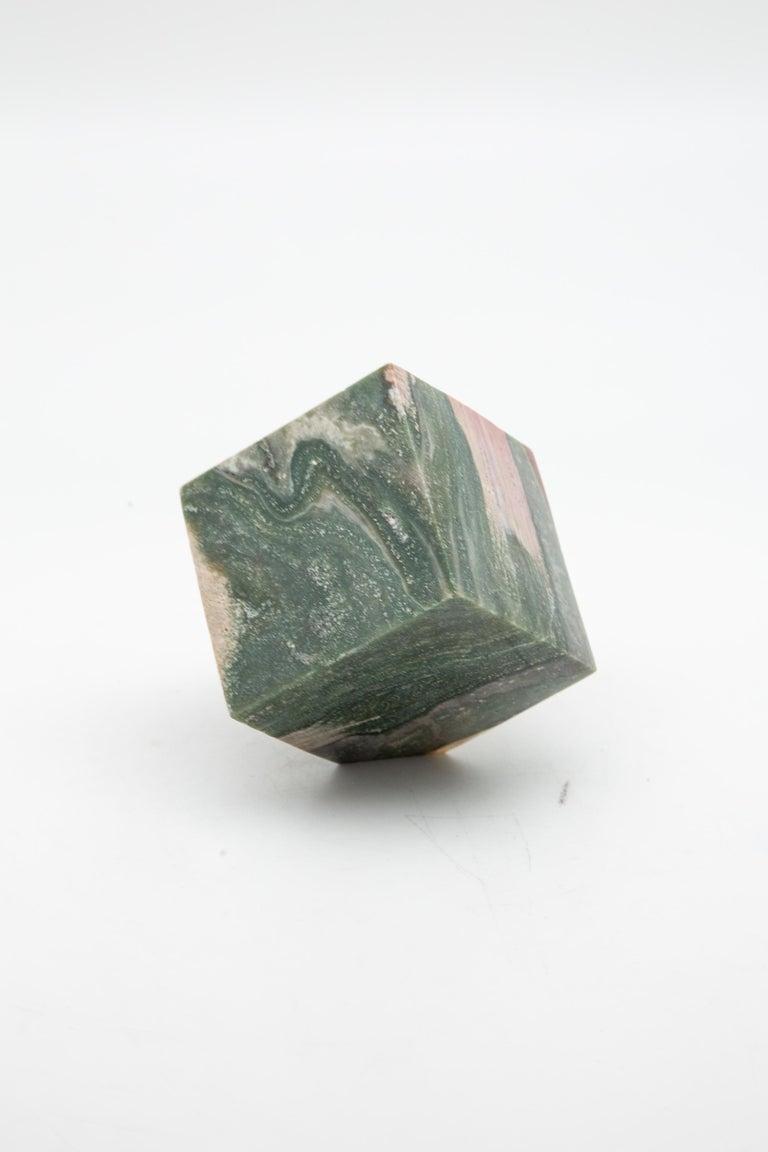 Contemporary Ocean Jasper Cube For Sale