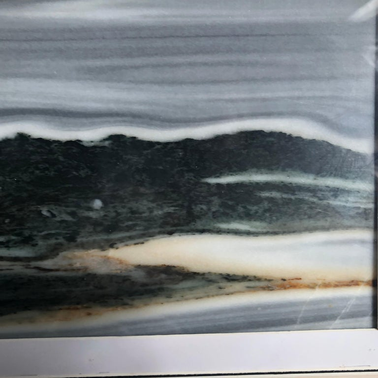 Marble Ocean Waves and Mountains Natural Stone