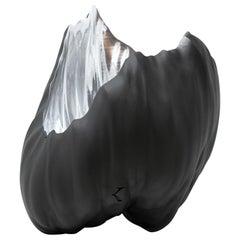 Oceana Bowl Matte Black and Silver