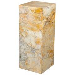 Ochre and Tan Midcentury Marble Italian Pedestal