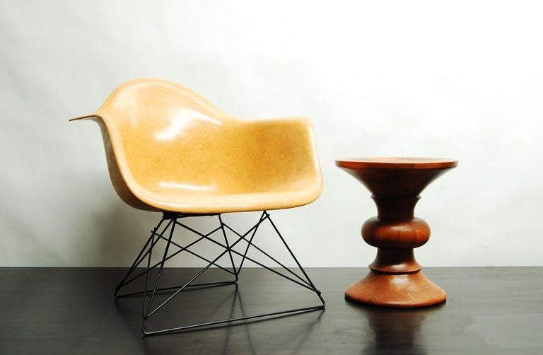American Ochre Eames Armshell on Cats Cradle Base For Sale