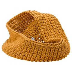 Ochre Neoprene Hand knit Classico Basket, Rosanna Contadini