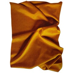 'Ochre' Yellow, Eye-Catching Modern Tufted Tapestry, Art Wallhanging and Rug