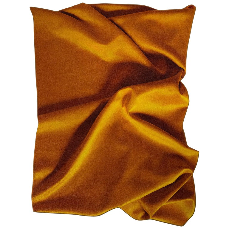 'Ochre' Yellow, Eye-Catching Modern Tufted Tapestry, Art Wallhanging and Rug For Sale