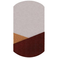 OCI Center L-Rug 100% Wool or Bordeaux Ecru Ocra by Portego