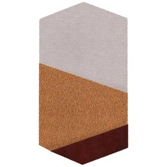 OCI Left Rug L, 100% Wool / Bordeaux Ecru by Portego