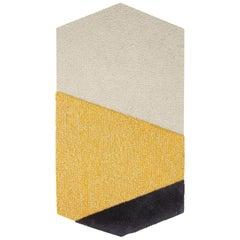 OCI Left Rug L, 100% Wool / Ecru Yellow Dark Gray by Portego
