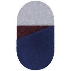 OCI Right Rug S, 100% Wool / Blue Brick by Portego