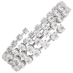 Octagon-Shaped Diamond Wrap Bracelet, 31.68 Carat