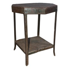 Octagon Shaped Metal Side Table