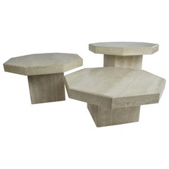 Octagon Travertine Nesting Tables, by Up & Up