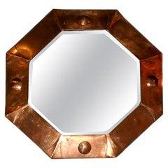 Octagonal Art Deco Copper Mirror