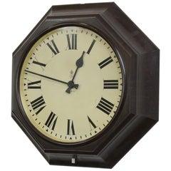 Octagonal Bakelite Post Office Clock, circa 1930s