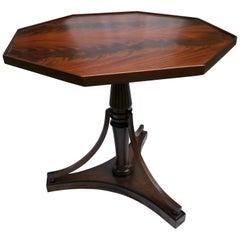 Octagonal Crotch Mahogany Sheraton-Style Table