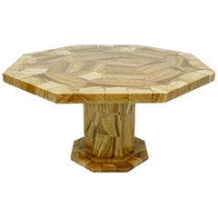 Large Onyx Mosaic Marble Dining Table 1980s