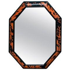 Octagonal Faux Tortoise Shell Mirror, circa 1970s