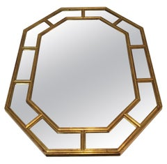 Octagonal Gilt Resin Mirror, French, circa 1970