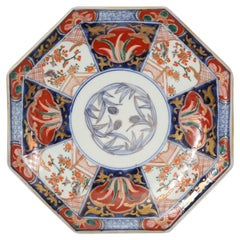 Imari Meiji Period Fan Shaped Porcelain Plate For Sale At
