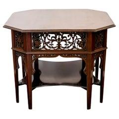 Octagonal Mahogany Center Table