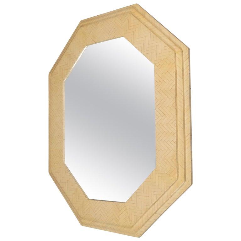 Octagonal Mirror by Enrique Garcel, Colombia, 1970s For Sale