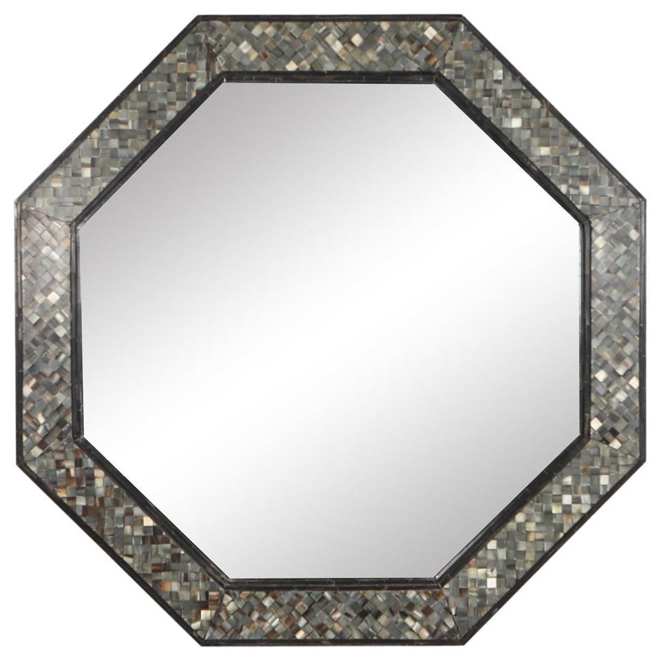 Octagonal Mirror in Celluloid Mosaic