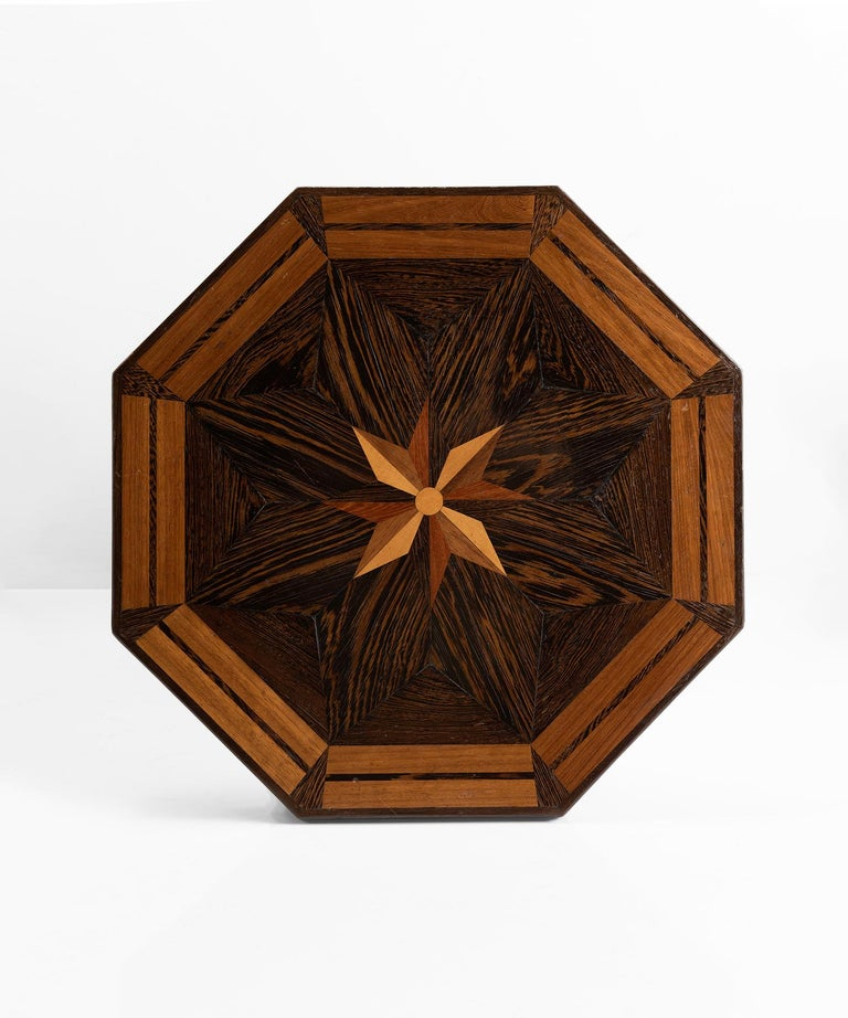 Veneer Octagonal Occasional Table, England, circa 1870 For Sale