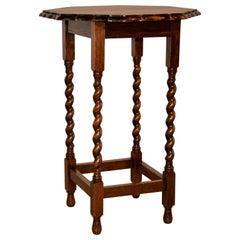 Octagonal Scalloped Side Table, circa 1900