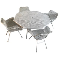 Octagonal Sculptura Patio Dining Set by Russell Woodard