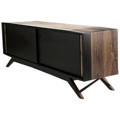 Octanov Walnut and Mahogany Cabinet/Credenza by ATRA
