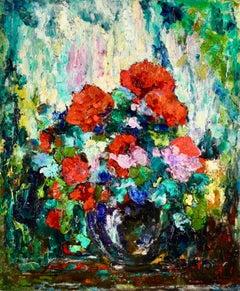Bouquet de Fleurs - French Post Impressionist Oil, Flowers by Octave Guillonnet