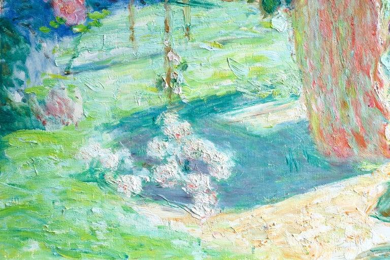 Dans le jardin - 20th Century Oil, Woman in Garden Landscape by EODV Guillonnet 6