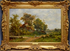 Near Hendon - 19th Century English Victorian Landscape Oil Painting