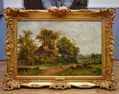Near Hendon - 19th Century English Victorian Landscape Oil Painting